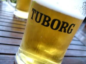 Dánské pivko Tuborg v Maďarsku