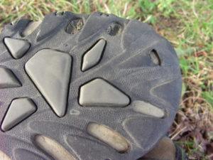 detail poškození podrážky