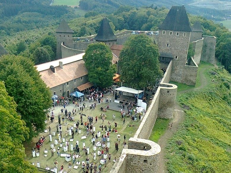 Nádvoří hradu Helfštýn