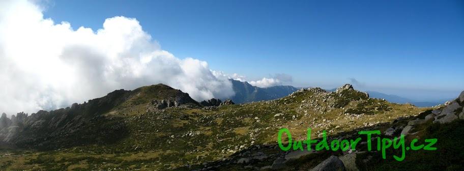 panorama na trase GR 20