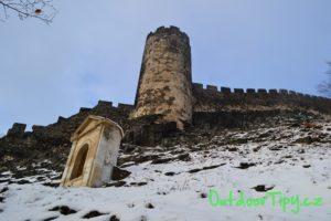 Hrad Bezděz v zimě