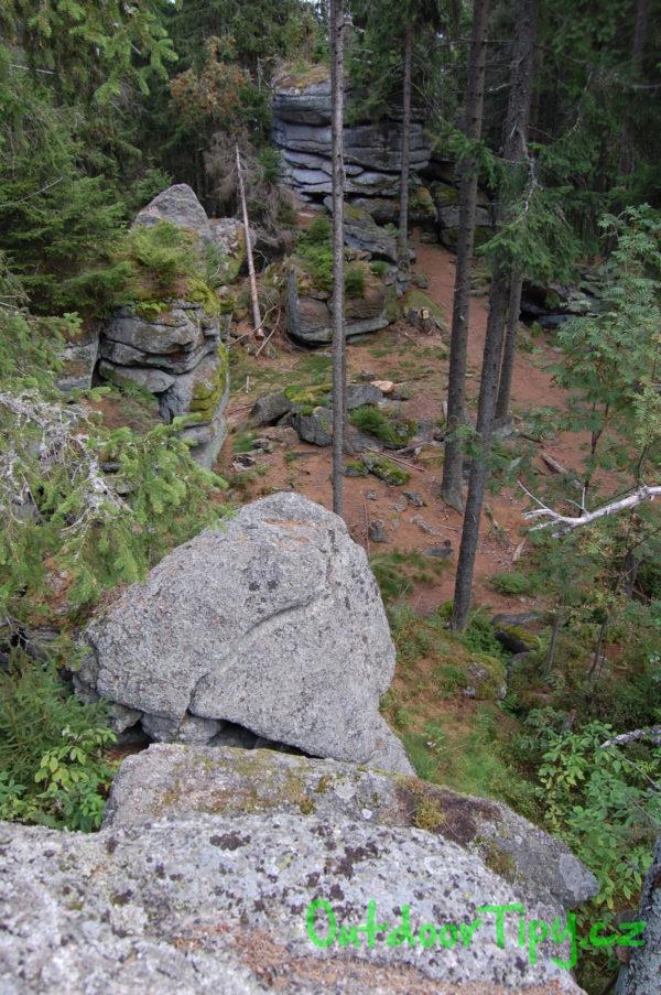 Vrcholová skaliska na Kamenci