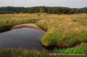 zátoka Pohořského potoka za Pohořím na Šumavě