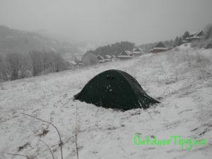 ranní sníh