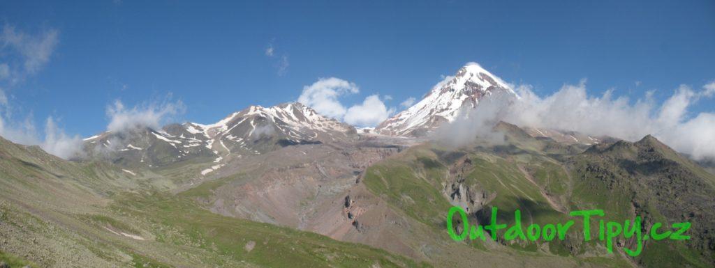 panorama s Kazbekem