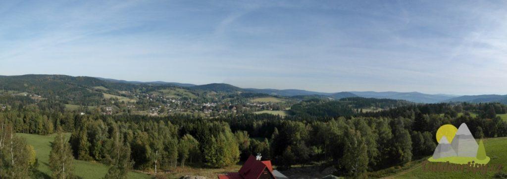 Rozhledna Nisanka - panoramatický výhled
