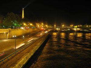 noční Paříž - Seina
