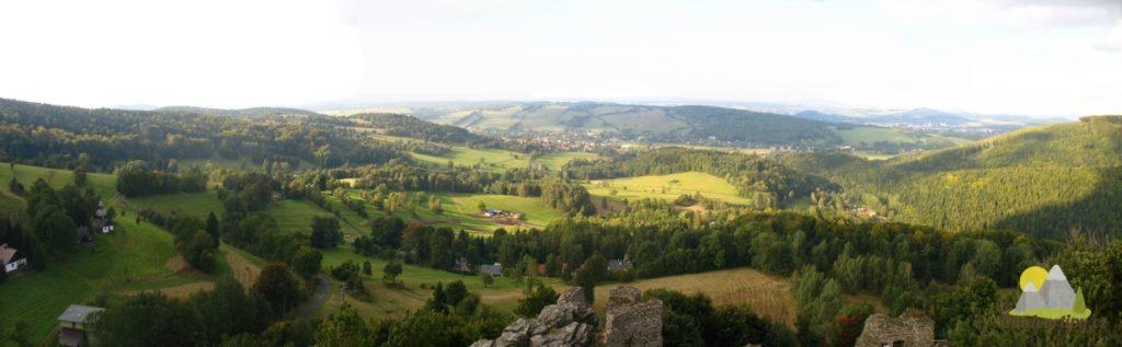 pohled z Tolštejnu severním směrem