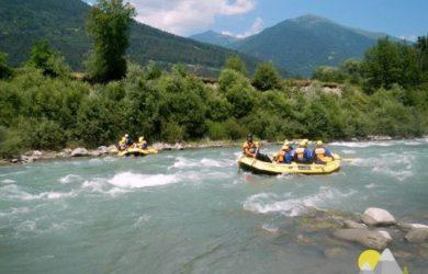 raftování v Itálii