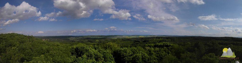 panoramatický pohled východním směrem