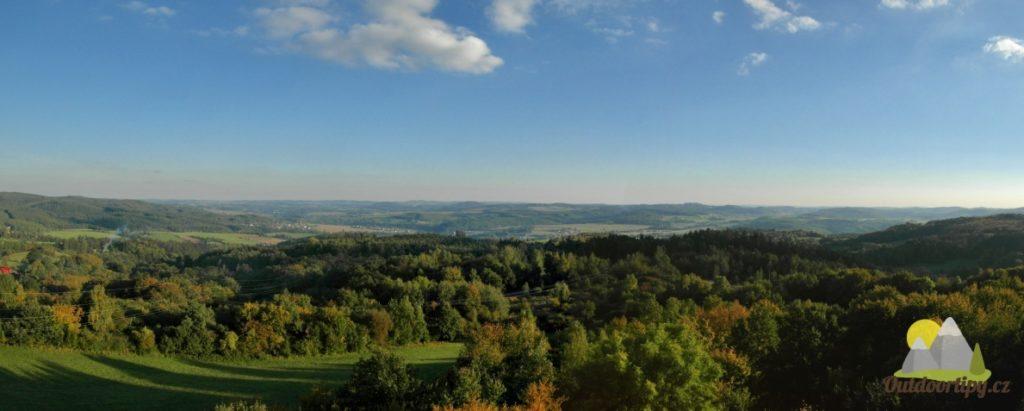 panoramatický výhled na Posázaví