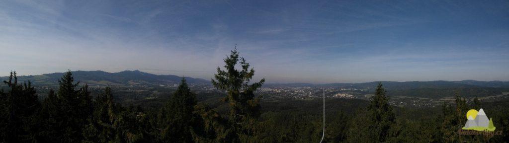panorama s ještědským hřbetem