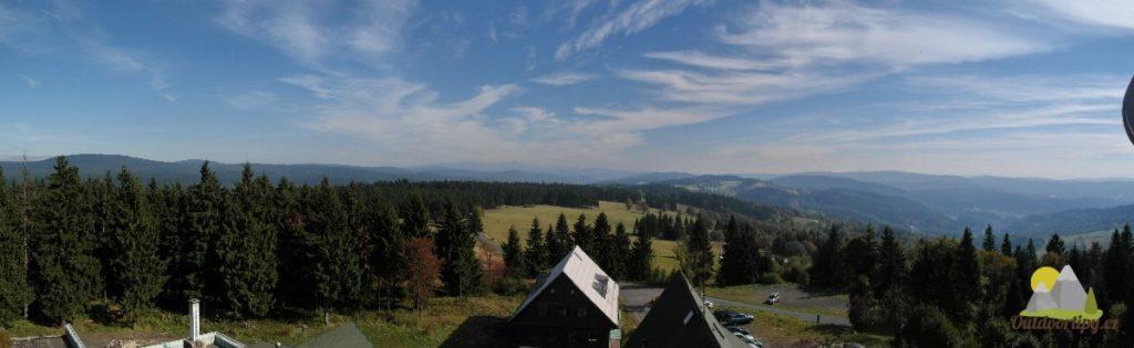 panoramatický pohled z Královky