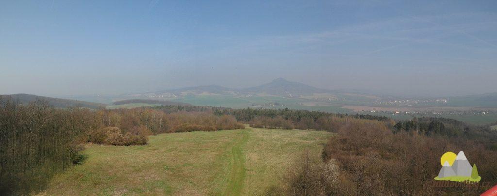 panoramatický pohled severním směrem