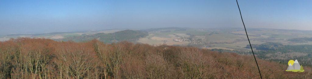 panoramatická fotografie z rozhledny Velký Blaník