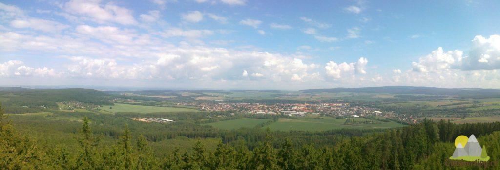 pohled z Kotle na Rokycany