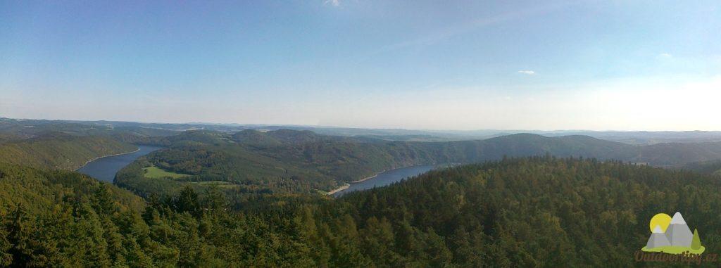pohled na Slapskou přehradu