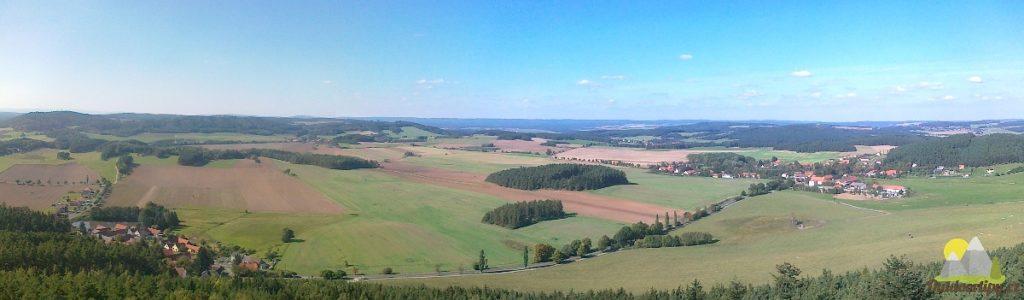 Veselý vrch - pohled západním směrem