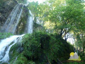 vodopád Skakavac v Lesním parku Jankovac