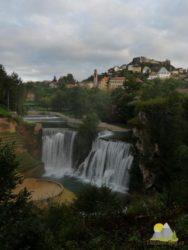 ranní pohled na vodopád