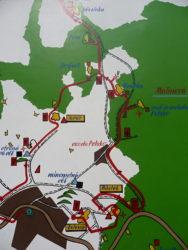 Mapa pevnosti Dobrošov