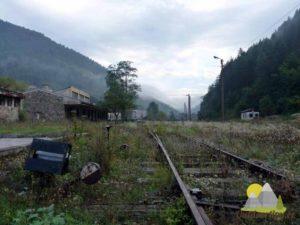 zavřené nádraží ve městě Vareš