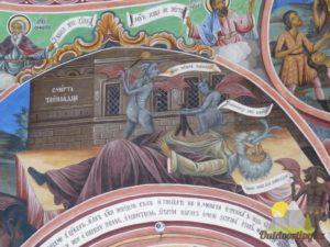 detail malby v Rilském klášteře