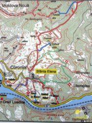 mapa turistických stezek v okolí Svaté Heleny