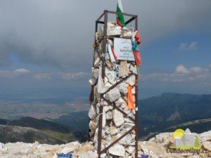 kamenný památník na vrcholu Vichrenu