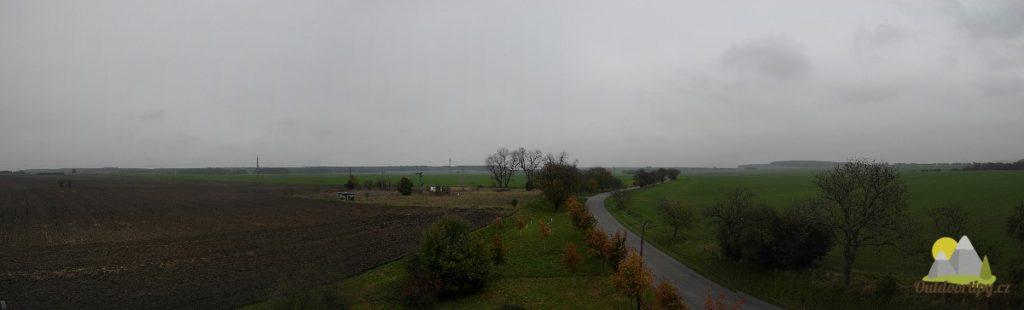 pohled z rozhledny severním směrem