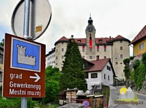 Idrija - hrad Gewerkenegg