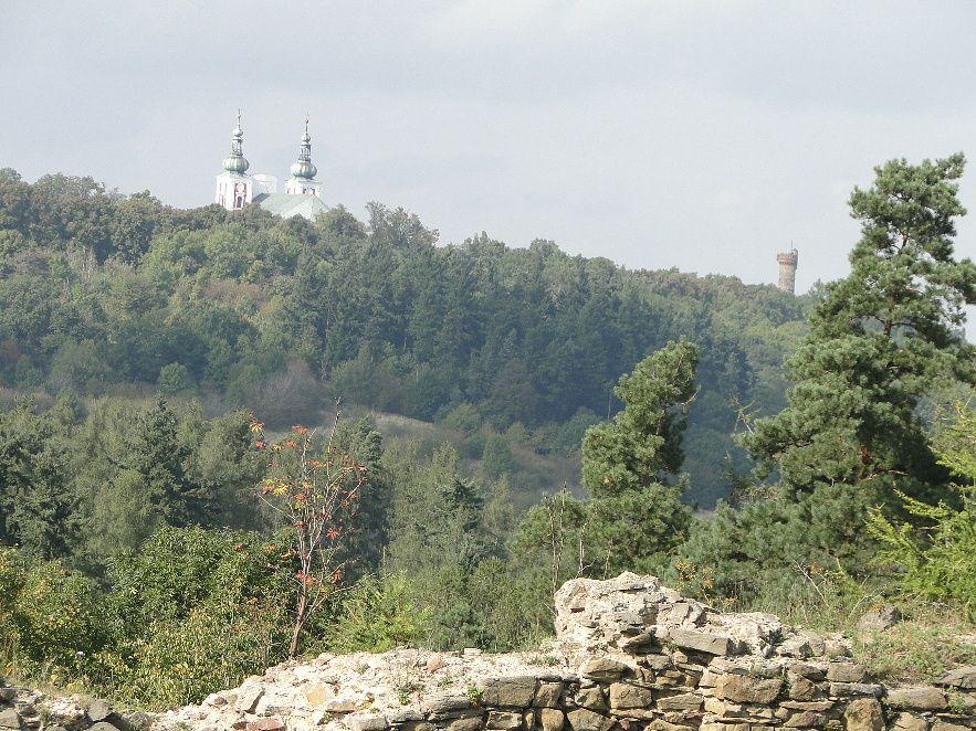 výhled ze zříceniny Šelenburk