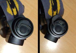 HL60R - detail nabíjecí zdířky