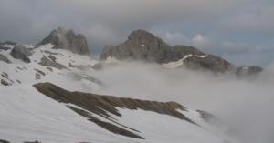 Alpské tůry na ledovci