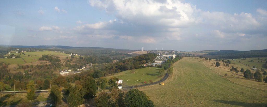 Panoramatický pohled západním směrem