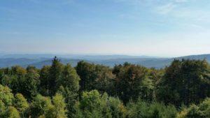 Výhled na Hostýnské vrchy