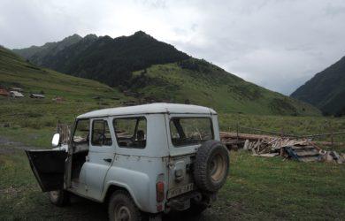 Sovětská mašina, která nás dovezla do Omala