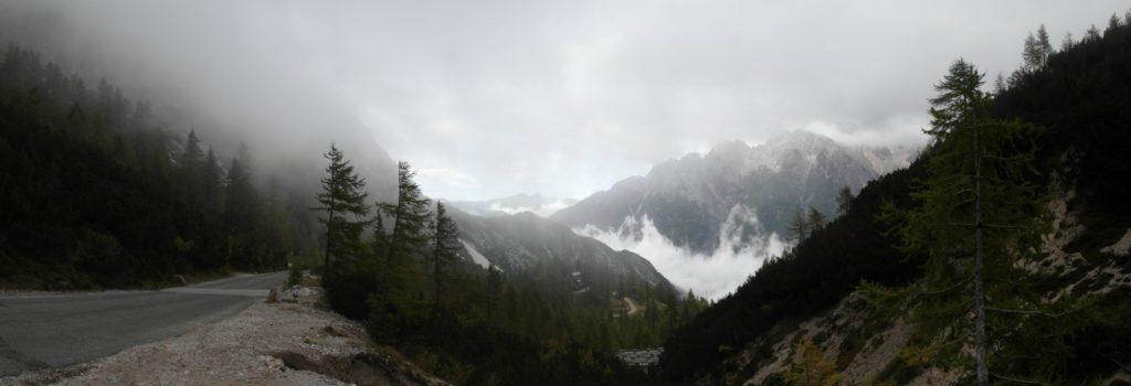 sedlo Vršic - nejvýše položený silniční průsmyk Slovinska