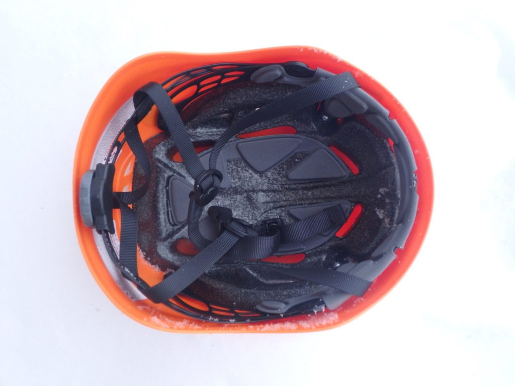 Vnitřek helmy