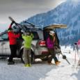 Přeprava lyžařského vybavení automobilem