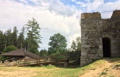 zřícenina hradu Orlík u Humpolce