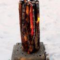 Hořící špalek - finská, švédská, indiánská svíce